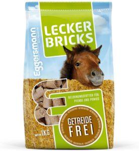 Eggersmann Lecker Bricks Getreidefrei – Pferdeleckerlis ohne Getreide – Getreidefreie Leckerlis für Pferde