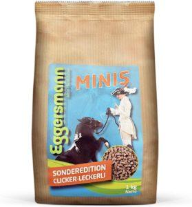Eggersmann Minis – Kleine Pferdeleckerlis Clicker – Getreidefreie Leckerlies für Pferde und Ponies in versch. Größen